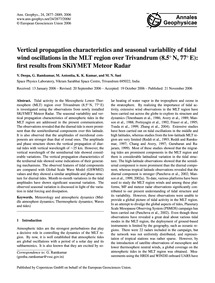 Vertical Propagation Characteristics and... by Deepa, V.