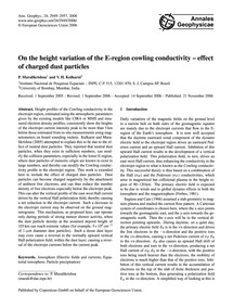 On the Height Variation of the E-region ... by Muralikrishna, P.