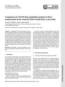 Comparison of a Nlom Data Assimilation P... by Losch, M.