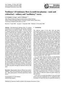 Nonlinear 1-d Stationary Flows in Multi-... by Dubinin, E. M.