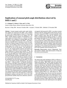 Implications of Unusual Pitch-angle Dist... by Zuluaga, C. A.