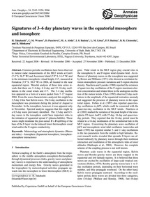 Signatures of 3–6 Day Planetary Waves in... by Takahashi, H.