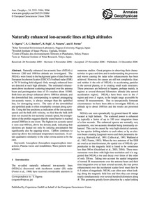 Naturally Enhanced Ion-acoustic Lines at... by Ogawa, Y.