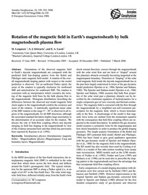 Rotation of the Magnetic Field in Earth'... by Longmore, M.