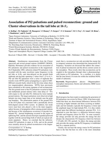 Association of Pi2 Pulsations and Pulsed... by Keiling, A.