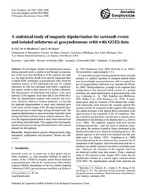 A Statistical Study of Magnetic Dipolari... by Cai, X.