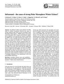 Infrasound - the Cause of Strong Polar M... by Kirkwood, S.