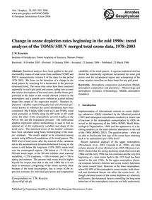 Change in Ozone Depletion Rates Beginnin... by Krzyscin, J. W.