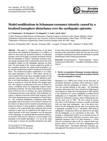 Model Modifications in Schumann Resonanc... by Nickolaenko, A. P.