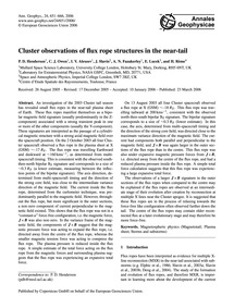 Cluster Observations of Flux Rope Struct... by Henderson, P. D.