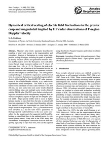 Dynamical Critical Scaling of Electric F... by Parkinson, M. L.