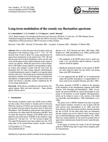 Long-term Modulation of the Cosmic Ray F... by Starodubtsev, S. A.