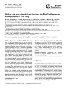 Optical Characteristics of Desert Dust O... by Balis, D.