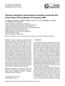 Thermal, Atmospheric and Ionospheric Ano... by Pulinets, S. A.