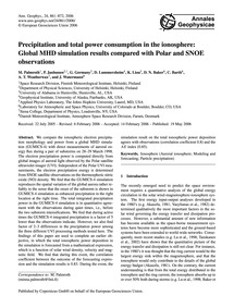 Precipitation and Total Power Consumptio... by Palmroth, M.