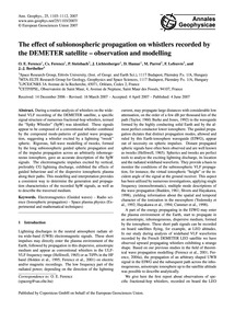 The Effect of Subionospheric Propagation... by Ferencz, O. E.