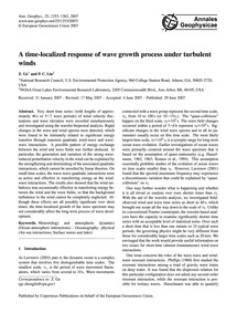 A Time-localized Response of Wave Growth... by Ge, Z.