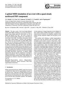 A Global Mhd Simulation of an Event with... by Merkin, V. G.