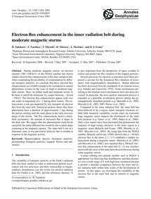 Electron Flux Enhancement in the Inner R... by Tadokoro, H.