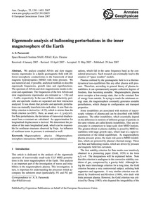 Eigenmode Analysis of Ballooning Perturb... by Parnowski, A. S.