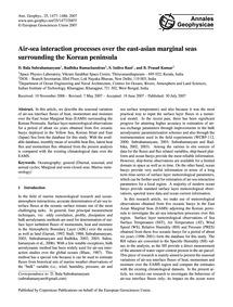 Air-sea Interaction Processes Over the E... by Bala Subrahamanyam, D.