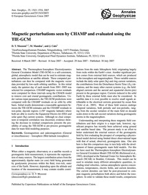 Magnetic Perturbations Seen by Champ and... by Mozzoni, D. T.