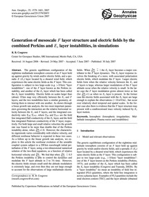 Generation of Mesoscale F Layer Structur... by Cosgrove, R. B.