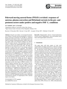 Poleward Moving Auroral Forms (Pmafs) Re... by Sandholt, P. E.