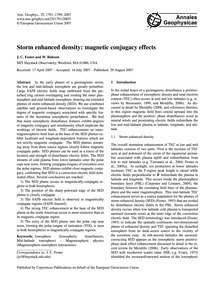 Storm Enhanced Density: Magnetic Conjuga... by Foster, J. C.