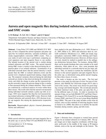 Aurora and Open Magnetic Flux During Iso... by Dejong, A. D.