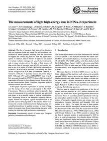 The Measurements of Light High-energy Io... by Leonov, A.