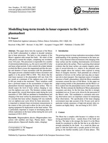 Modelling Long-term Trends in Lunar Expo... by Hapgood, M.