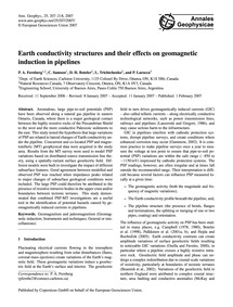 Earth Conductivity Structures and Their ... by Fernberg, P. A.