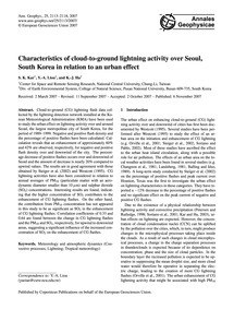 Characteristics of Cloud-to-ground Light... by Kar, S. K.