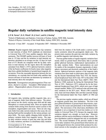 Regular Daily Variations in Satellite Ma... by Turner, J. P. R.