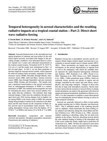 Temporal Heterogeneity in Aerosol Charac... by Suresh Babu, S.