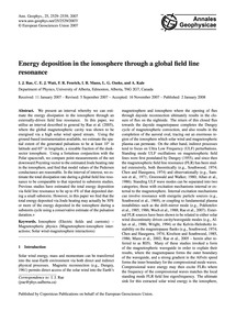 Energy Deposition in the Ionosphere Thro... by Rae, I. J.