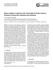 Quiet-condition Variations in the Scale ... by Lee, C.-c.