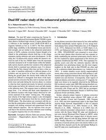 Dual Hf Radar Study of the Subauroral Po... by Makarevich, R. A.