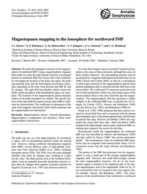 Magnetopause Mapping to the Ionosphere f... by Alexeev, I. I.