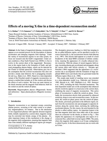 Effects of a Moving X-line in a Time-dep... by Kiehas, S. A.