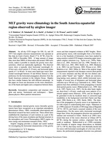 Mlt Gravity Wave Climatology in the Sout... by Medeiros, A. F.