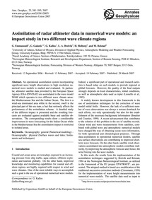 Assimilation of Radar Altimeter Data in ... by Emmanouil, G.