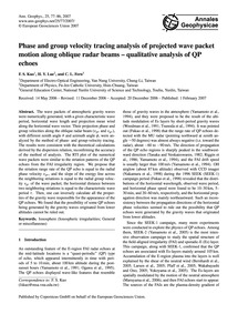 Phase and Group Velocity Tracing Analysi... by Kuo, F. S.