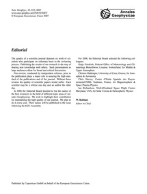 Editorial : Volume 25, Issue 4 (08/05/20... by