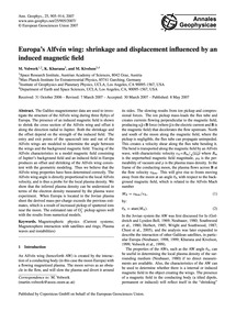 Europa's Alfvén Wing: Shrinkage and Disp... by Volwerk, M.