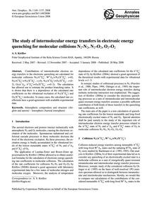 The Study of Intermolecular Energy Trans... by Kirillov, A. S.
