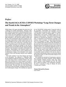 Preface the Fourth Iaga-icma-cawses Work... by