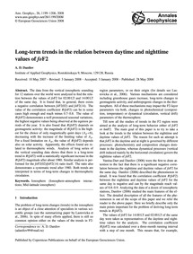 Long-term Trends in the Relation Between... by Danilov, A. D.