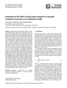 Estimation of the Effect of Long-range T... by Gogoi, M. M.